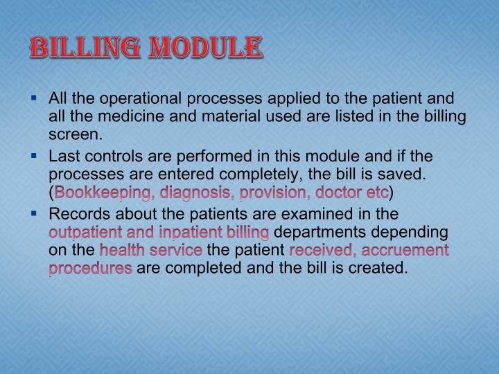 Billing Module