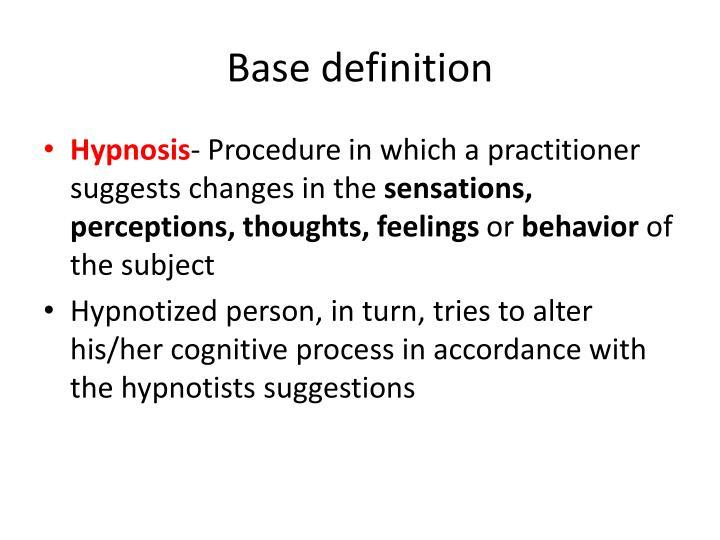 Base definition