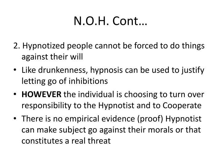 N.O.H. Cont…