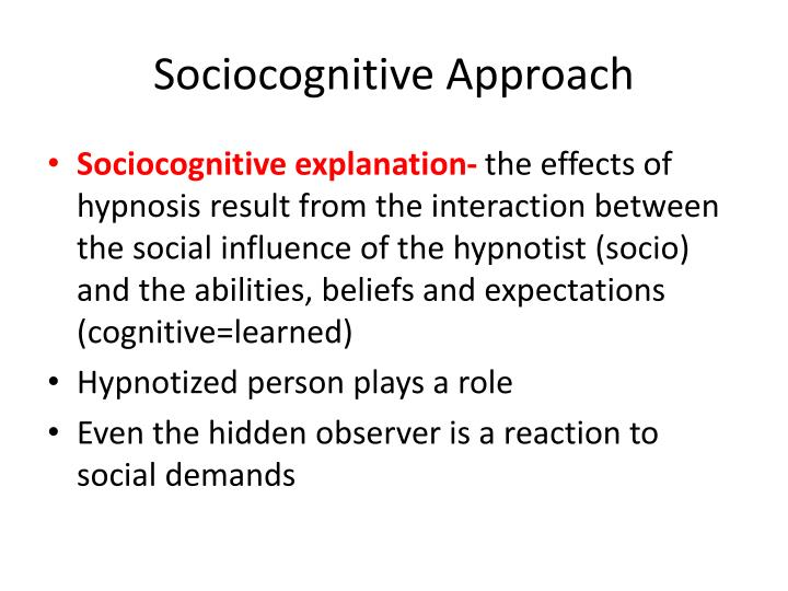 Sociocognitive Approach