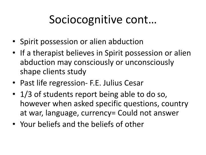 Sociocognitive cont…