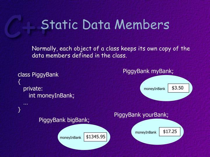 Static Data Members