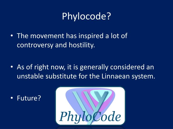 Phylocode