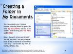 creating a folder in my documents