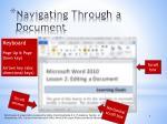 navigating through a document