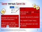 save versus save as1