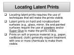 locating latent prints