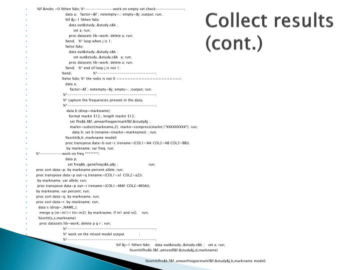 Collect results (cont.)