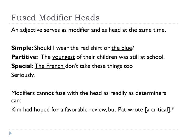 Fused Modifier Heads