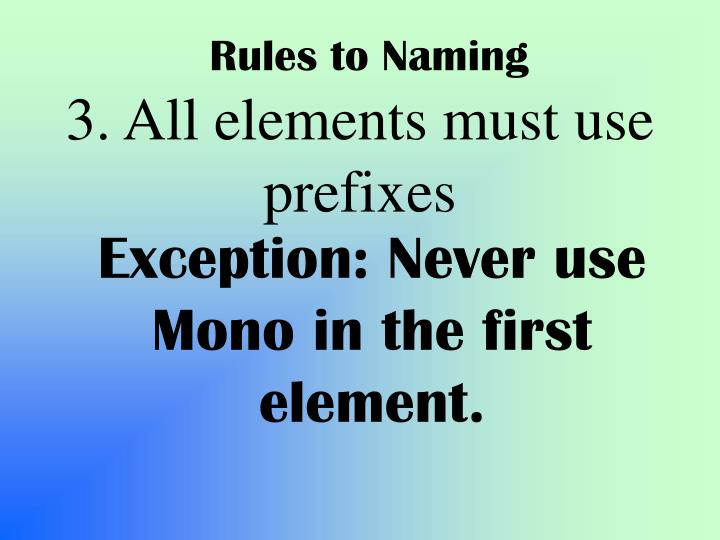 Rules to Naming