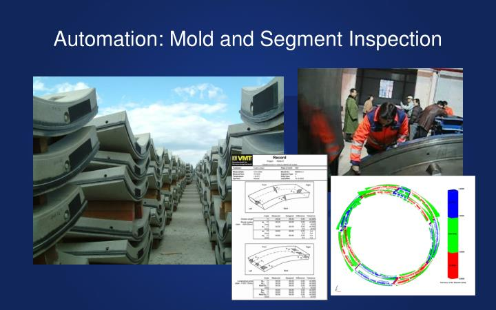 Automation: Mold and Segment Inspection