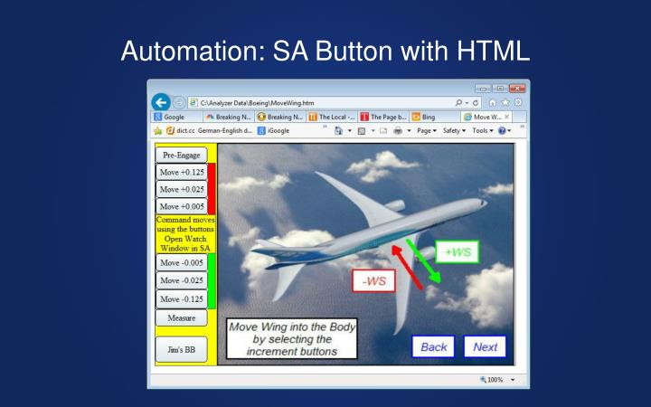 Automation: SA Button with HTML