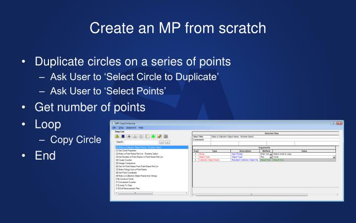 Create an MP from scratch