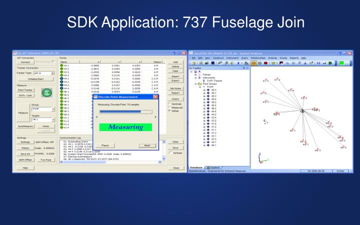 SDK Application: 737 Fuselage Join