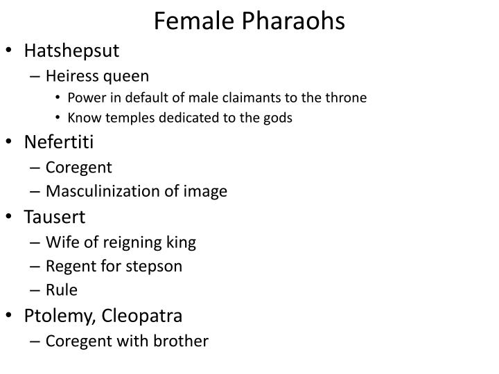 Female Pharaohs