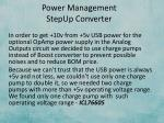 power management stepup converter