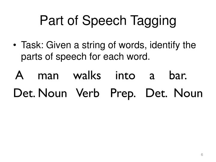 Part of Speech Tagging