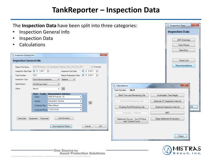 TankReporter – Inspection Data
