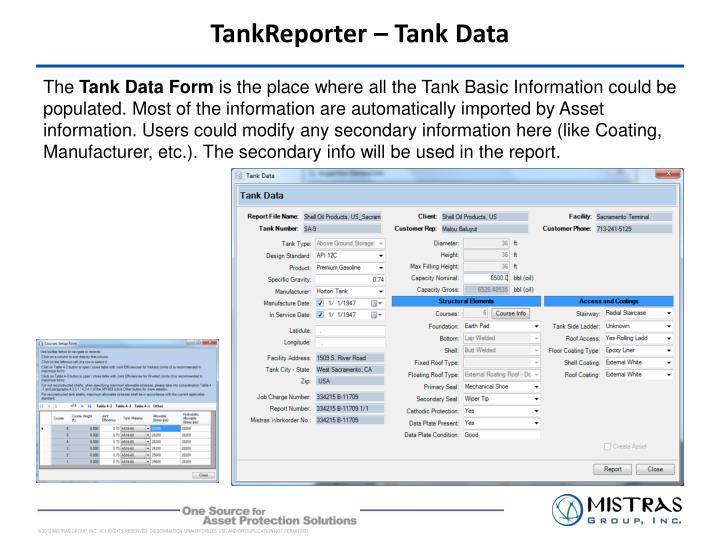 TankReporter – Tank Data