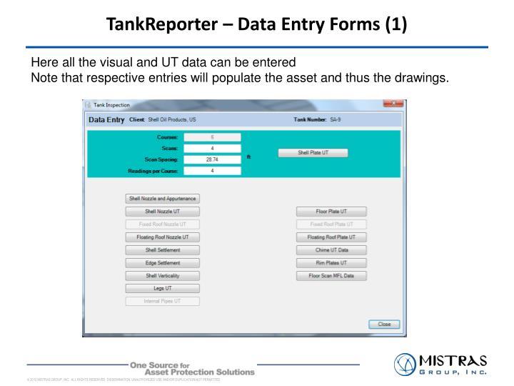 TankReporter – Data Entry Forms (1)