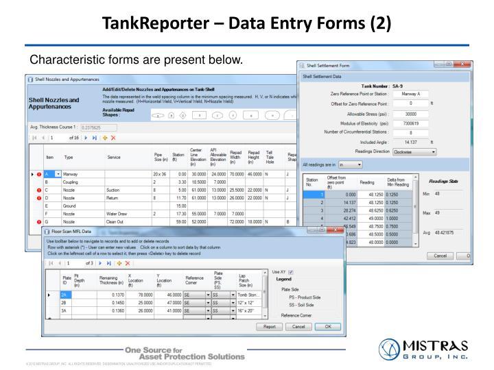 TankReporter – Data Entry Forms (2)
