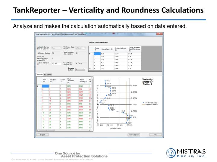 TankReporter – Verticality and Roundness Calculations