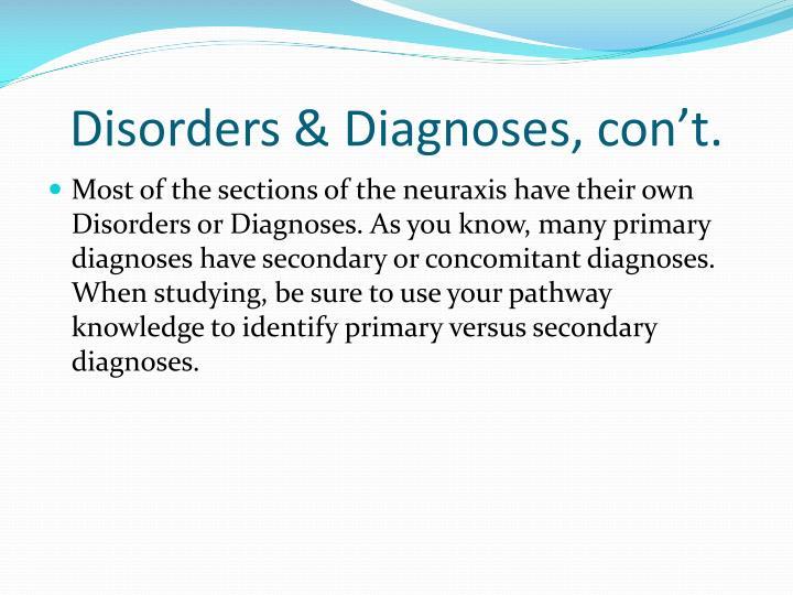 Disorders &