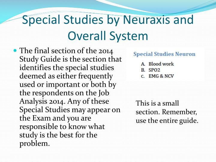 Special Studies by