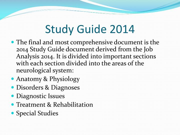 Study Guide 2014