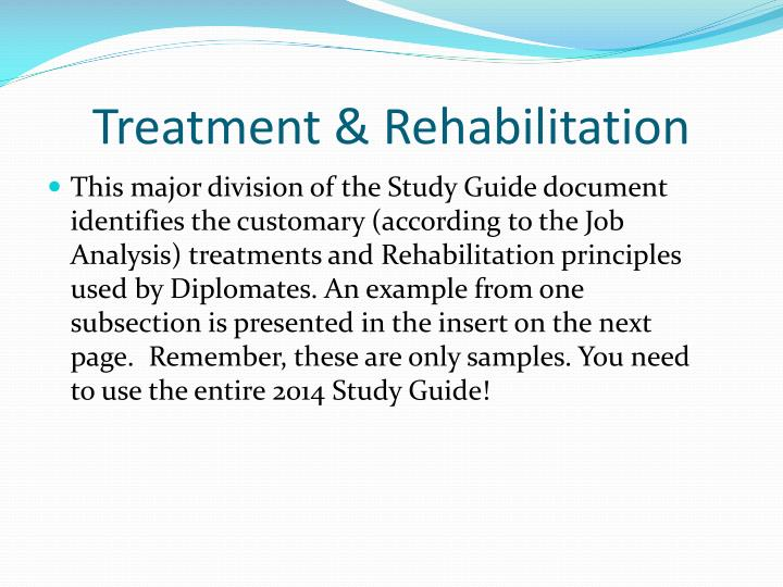 Treatment & Rehabilitation