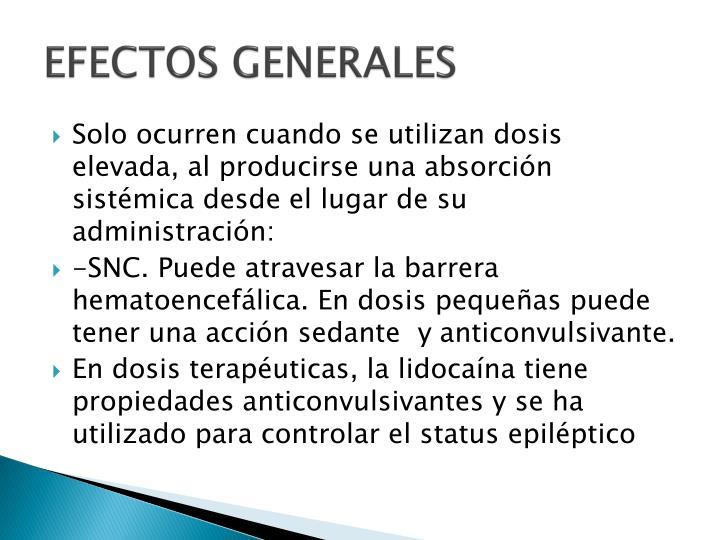 EFECTOS GENERALES