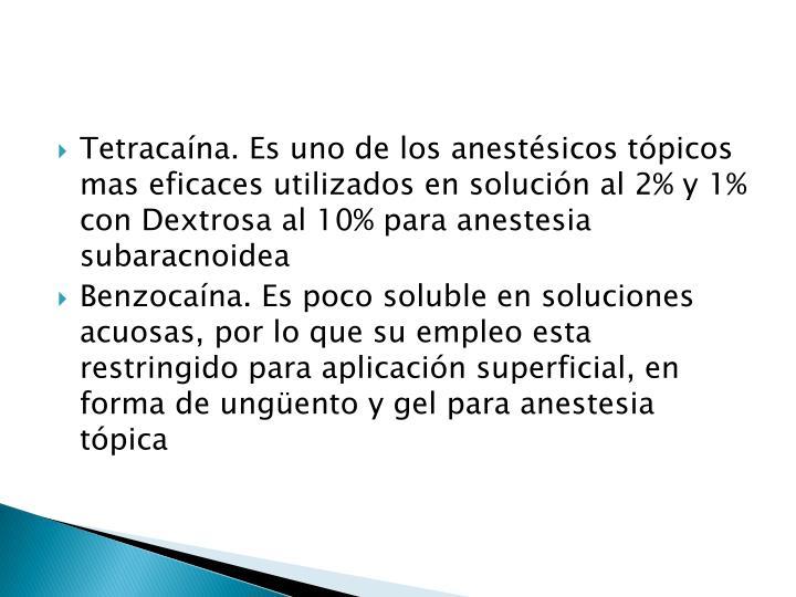 Tetracaína