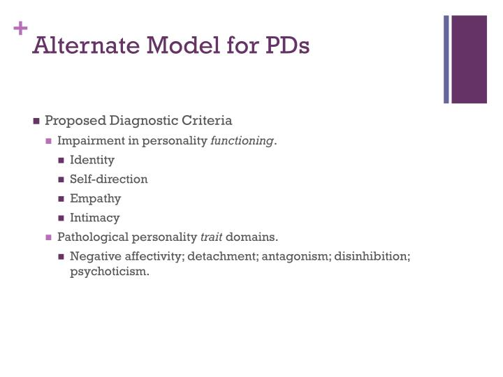 Alternate Model for PDs