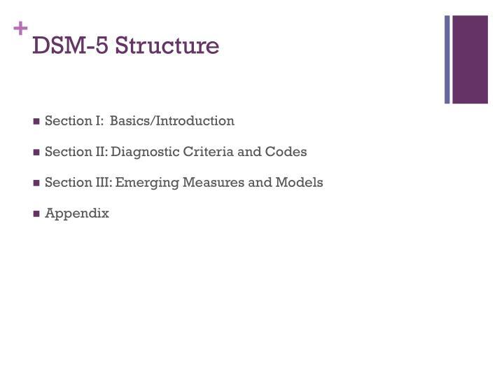 DSM-5 Structure