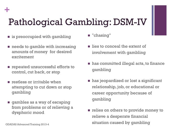 Pathological Gambling: DSM-IV