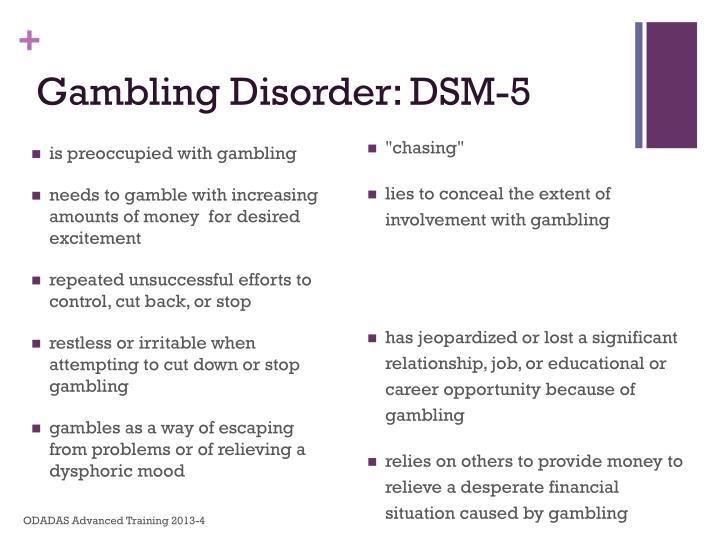 Gambling Disorder: DSM-