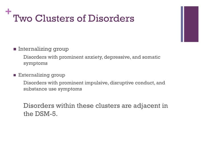 Two Clusters of Disorders