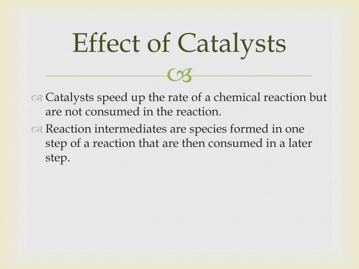 Effect of Catalysts