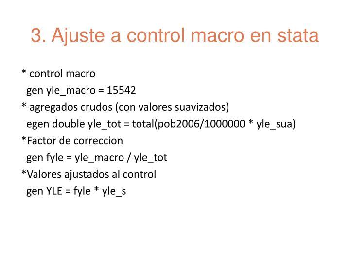 3. Ajuste a control macro en