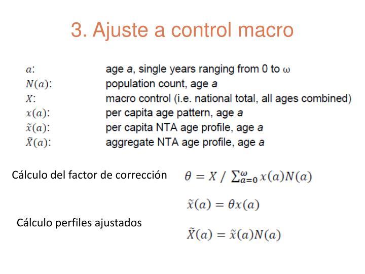 3. Ajuste a control macro