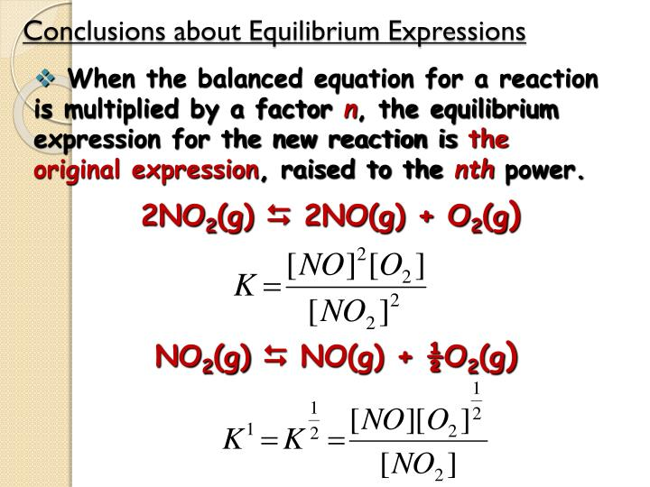 Conclusions about Equilibrium Expressions