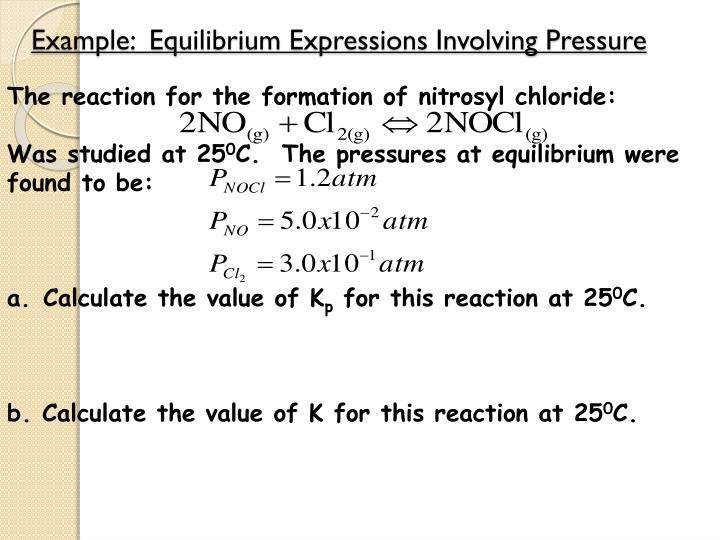 Example:  Equilibrium