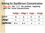 solving for equilibrium concentration2