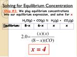 solving for equilibrium concentration3