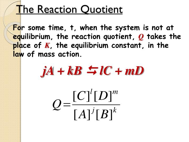 The Reaction Quotient