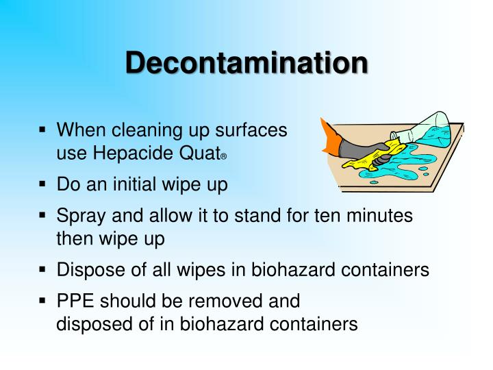 Decontamination