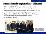 international cooperation bilateral