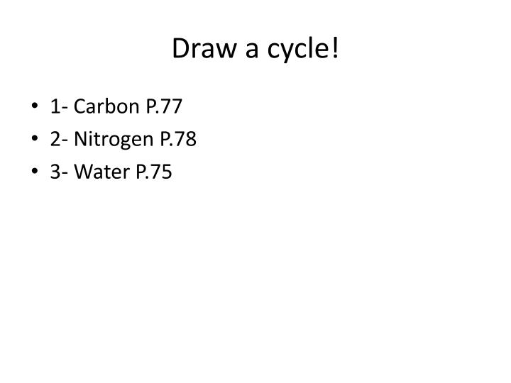 Draw a cycle!