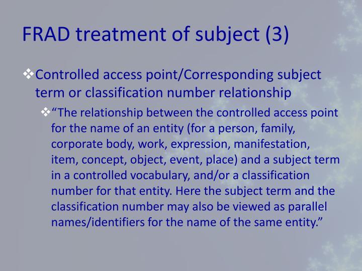 FRAD treatment of subject (3)
