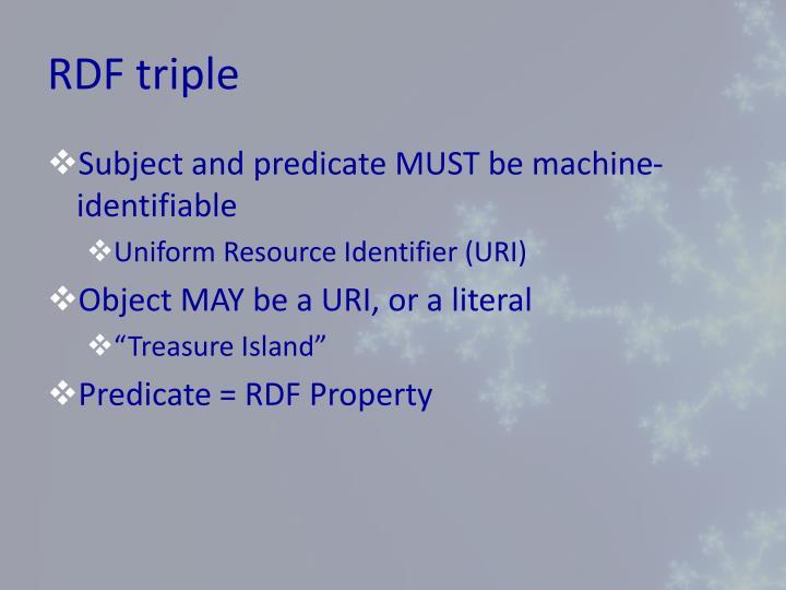 RDF triple